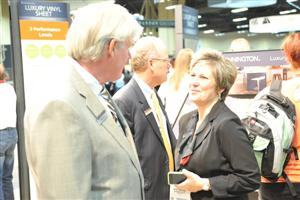Kim Holm, Ed Duncan and Betsy Amaroso, Mannington