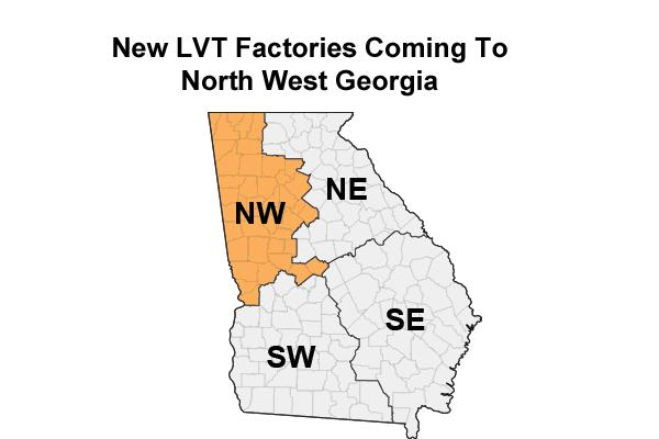 New Rigid LVT Factories in NW Georgia