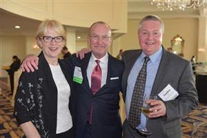 Jeanne Matson (Starnet), Jim Vanhauer (Commercial Flooring Systems) and Andre Gien (Global Financial Bridge)