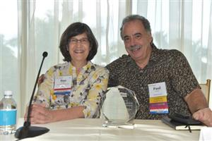 Sue Hedges (CCA Floors & Interiors) and Paul Juliano (Tandus Centiva)