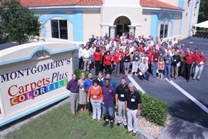 Attendees at Montgomery's CarpetsPlus Color Tile.