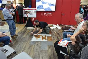 Installation demonstration at Karndean Design Flooring