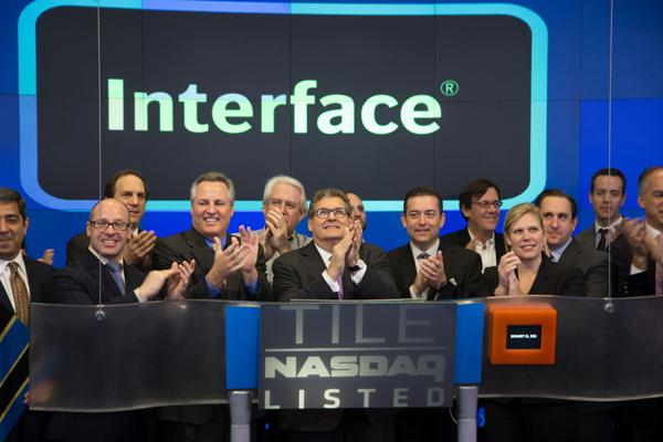 Interface Rings Closing Bell On NASDAQ