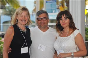 Anne Harr (Floor Focus Magazine) Robert Ruscio (Ruscio Studio) and Irina Broido