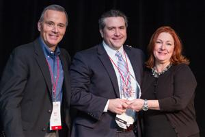 Supplier of the Year - Geoff Gordon (FUSE), Mark Bischoff (Tarkett), Kris Keller (FUSE)