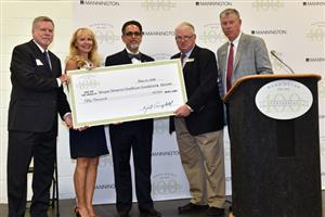 Mannington Mills presents $50,000 check to Morgan Memorial Hospital