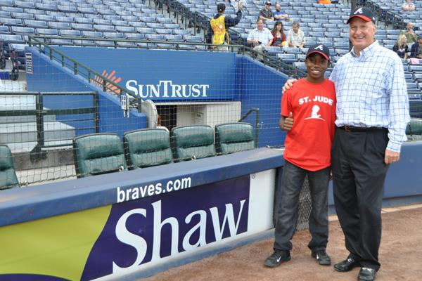 Shaw hosts St. Jude Patient at Braves game
