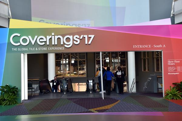 One of the entrances to the Coverings Expo
