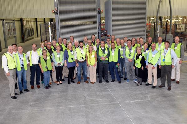 John Cousins with Daltile leads Starnet BOD and Advisory Council on tour at Dixon tile plant