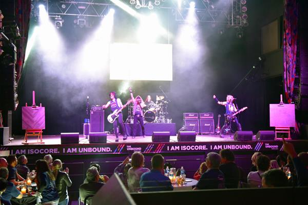 Metroflor's 80's theme band party at House of Blues