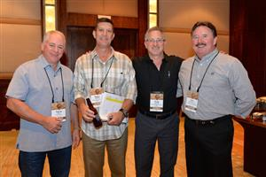 Larry Barr, Floors, Inc., Roger Gilbreth and Greg Kenith, Flooring Design Group, Nick Freadreacea, The Flooring Gallery.