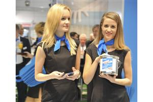 Models at Mapei Booth