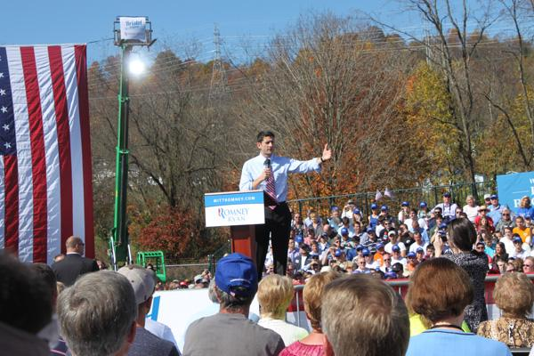 Paul Ryan Campaign stop at Universal Fibers