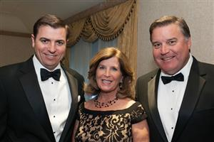Zack Zehner with Kurt and Patty Topp (Mannington Commercial)