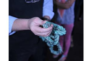 Lead weighted rope must be separated from recycled nylon fish nets