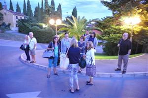 Group arriving at Portorose, Slovenia from Venice