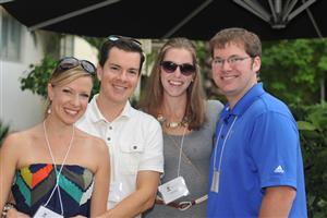 Kathryn and Jason Mease with Chris and Alison Banker (Tecton Architects)