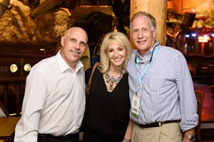 Scott Perron with 24-7 Floors LLC, Dana Teague with Informa, and Kemp Harr of Floor Focus Magazine