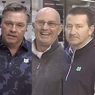 Casey Johnson, Jim Curtin and Jeff Manley Showcase the Latest LVT Products from Happy Feet