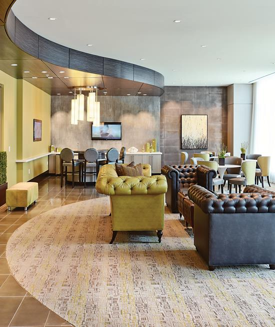 Interior design of a leed gold certified high rise for Certified interior designer