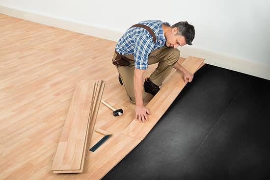 Floor Prep And Underlayments Critical, Best Underlayment For Laminate Flooring On Concrete Menards
